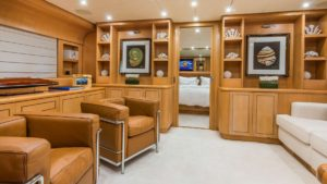 Zen Yacht Interior Sitting Area