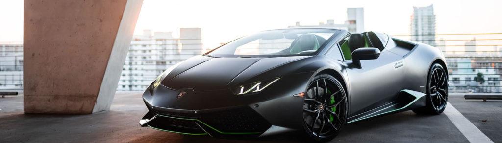 Explore Miami in a Lamborghini rented from MVP Miami